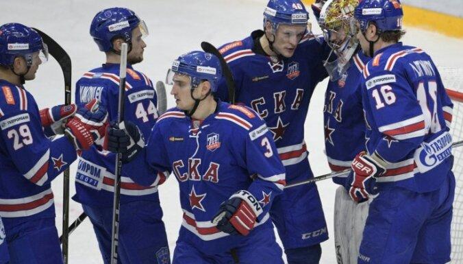 Znaroka un Vītoliņa vadītā SKA KHL mačā uzvar 'Severstaļ'