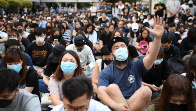 Honkongas tiesa masku aizliegumu atzīst par nekonstitucionālu