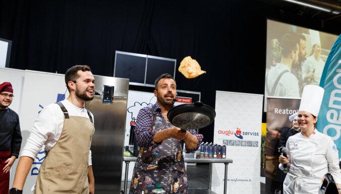 Foto: 'Baltic Chefs' un Roberto gatavo izstādē 'Riga Food 2021'