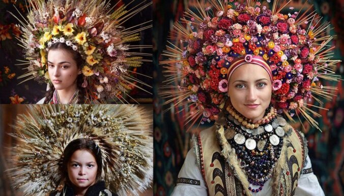 Foto: Krāšņie un tradicionālie ukraiņu kroņi, kas reiz pasargājuši no ļaunajiem gariem