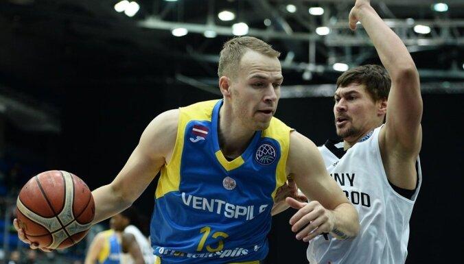 Gulbim 33 punkti, Ausējam uzvaras metiens 'Ventspils' panākumā Liepājā