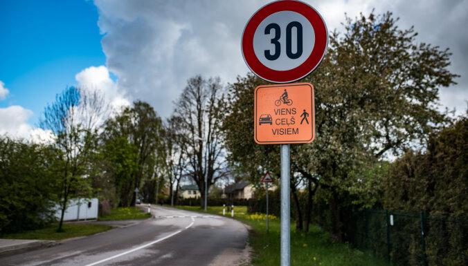 Ieviešot 30 km/h ātruma ierobežojumu, Siguldā samazinājies satiksmes negadījumu skaits