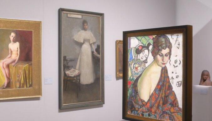 Foto: Uz muzeju ar iepriekšēju pierakstu – ieskats Baltijas simbolisma izstādē LNMM