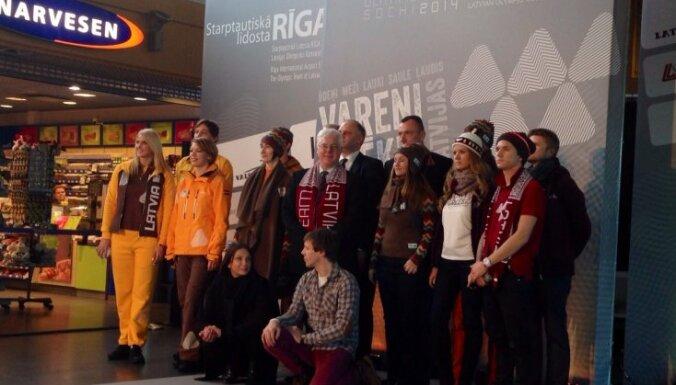 В Сочи делегация латвийской команды составит 54-57 человек