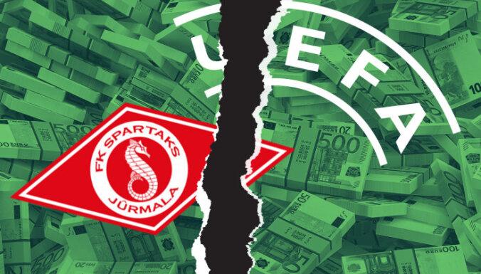 Divkārtējie Latvijas čempioni 'Spartaks' aizdomīgo spēļu dēļ netiek pie Eirokausu naudas