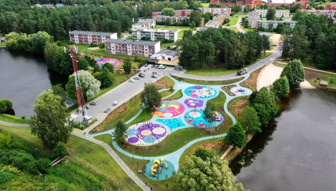 ФОТО: В Яунмарупе открыли игровую площадку для детей и подростков
