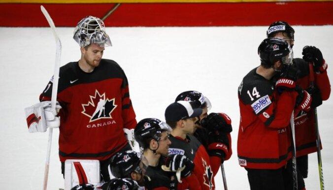 Kanādas izlases treneris: mēs nezaudējām spēlē, mēs zaudējām 'bullīšos'