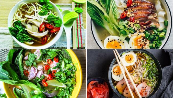 Rāmen, tom kha un citas eksotiskas zupas: 20 receptes garšu ceļojumam uz Āziju
