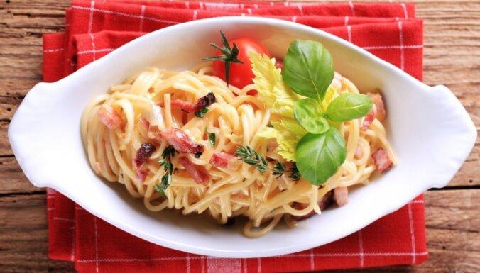 Макароны с ветчиной или Pasta Carbonara