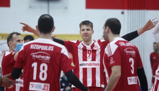 Volejbolisti ārzemēs: rezultatīvais Egleskalns tuvina 'Olympiacos' čempionu titulam