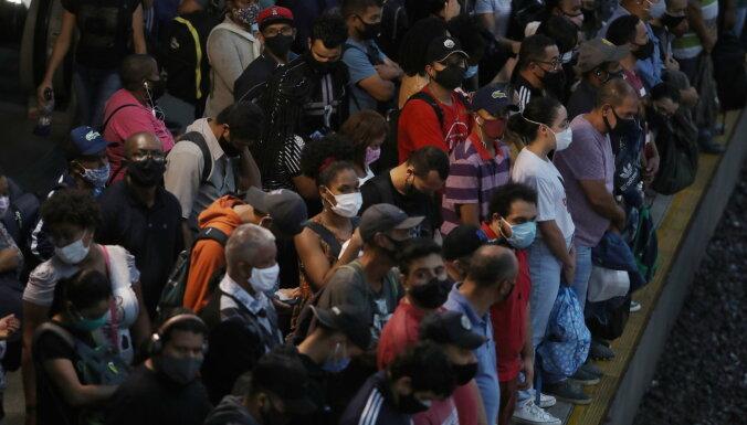 Covid-19: Brazīlijā diennakts laikā mirušo skaits pirmoreiz pārsniedzis 4000