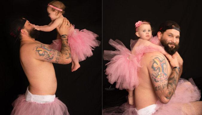 Tēva un meitas fotosesija, kas saviļņoja tūkstošiem cilvēku visā pasaulē