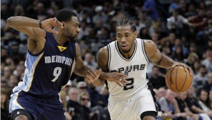 'Spurs' un 'Hawks' izcīna pārliecinošas uzvaras NBA izslēgšanas spēlēs