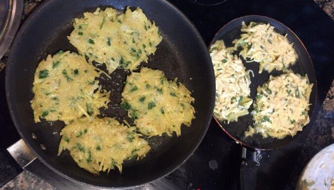 Students virtuvē: Vegāniskās kartupeļu un spinātu pankūkas