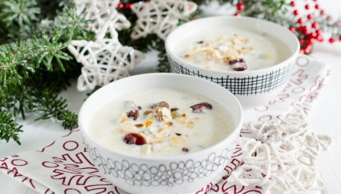 Rīsu un rozīņu piena zupa