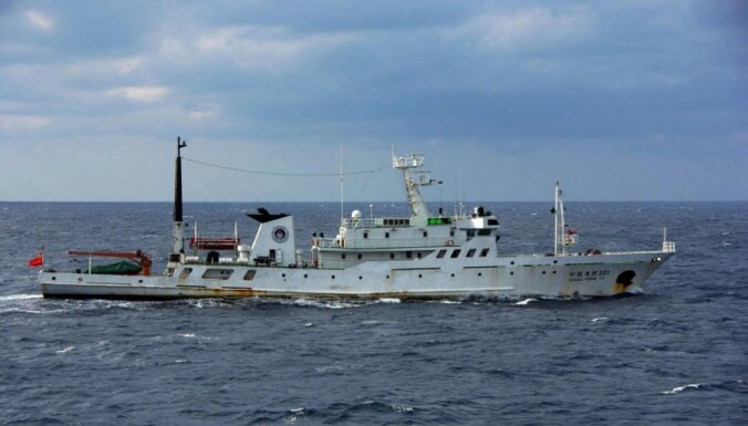 Ķīnas kuģi atkal iegājuši Senkaku salu ūdeņos