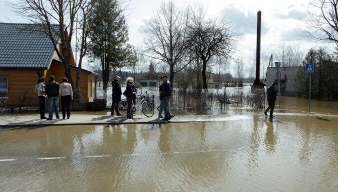 Cēsīs plūdi apdraud dzeramā ūdens pieejamību