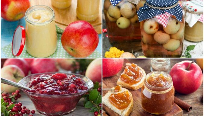 Ābolu raža burciņā – no zaptes līdz kompotam: 12 receptes ziemai