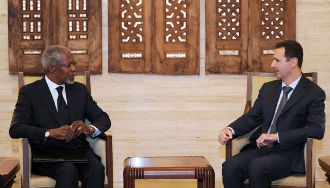 "СБ ООН поддержал ""пункты по Сирии"" Кофи Аннана"