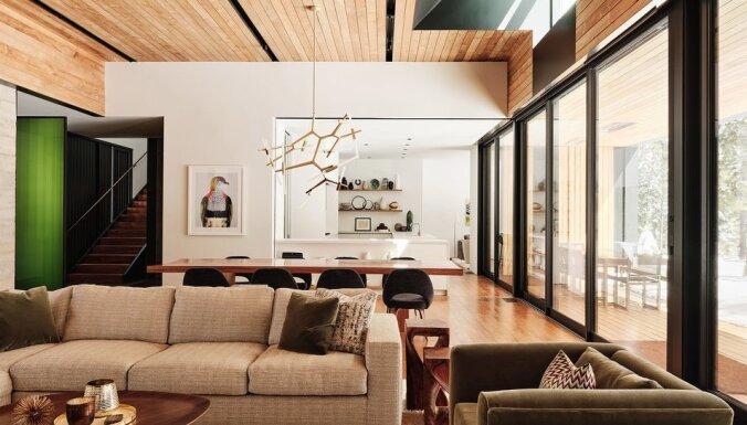 """ФОТО. Лесной """"домик"""" из бетона, стекла и стали в окружении 115 деревьев"""