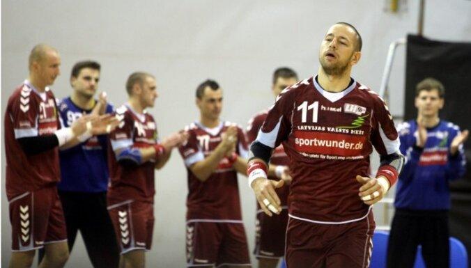 Latvijas handbolistiem zaudējums arī pret titulēto Austrijas klubu 'Bregenz'