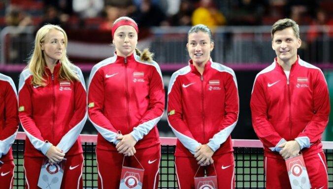 Latvijas tenisistes pret Vāciju tomēr varēs spēlēt 'Arēnā Rīga'
