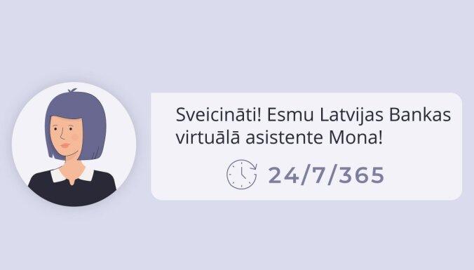 Darbu Latvijas Bankā sāk virtuālā asistente Mona
