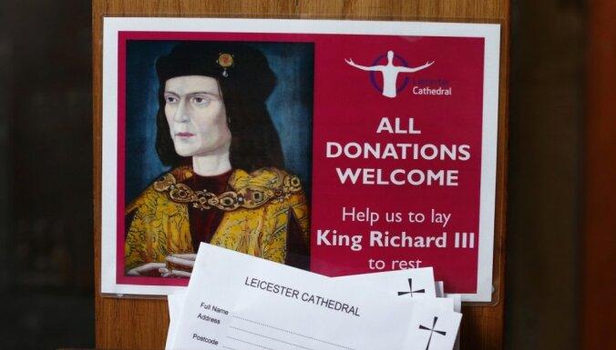 Anglijas karaļa Ričarda III pēcteči zaudējuši prāvā par viņa atlieku pārapbedīšanu