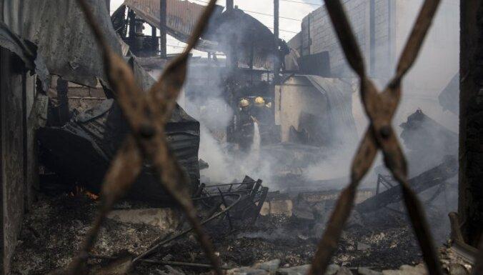 Пожар уничтожил одно из самых крупных хозяйств Кандавского края