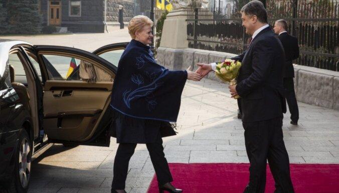"""Грибаускайте в Киеве получила украинскую премию """"Человек года"""""""