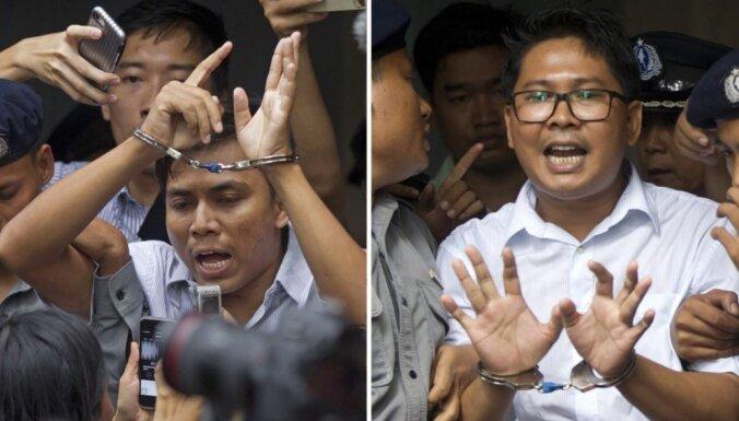 Par valsts noslēpuma atklāšanu Mjanmā notiesāti divi 'Reuters' žurnālisti