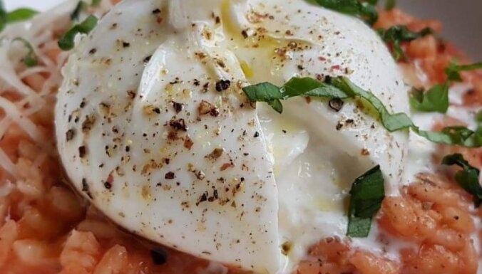 Рецепт на конкурс: Ризотто с помидорами, базиликом и молочной девочкой Burrata