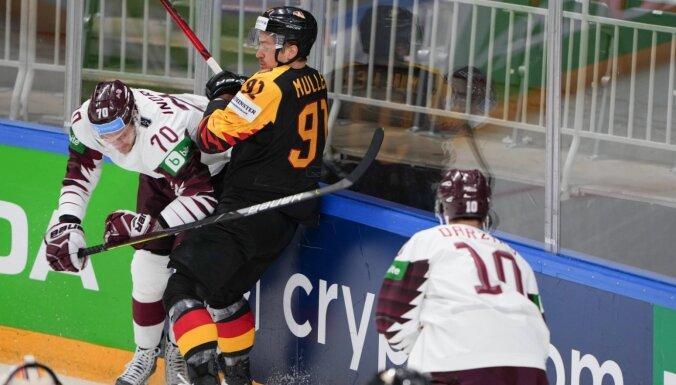 Немцы не пустили Латвию в четвертьфинал. Хозяевам не хватило одного гола
