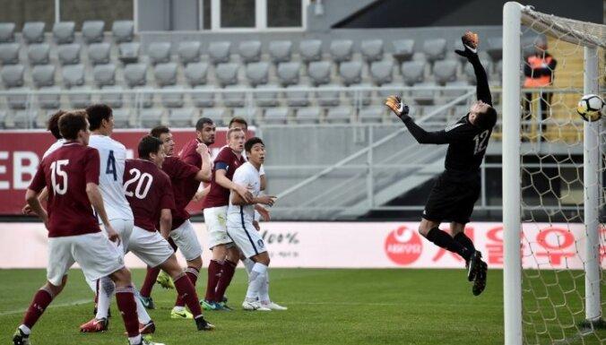 Сборная Латвии сыграла с участником чемпионата мира-2018 по футболу