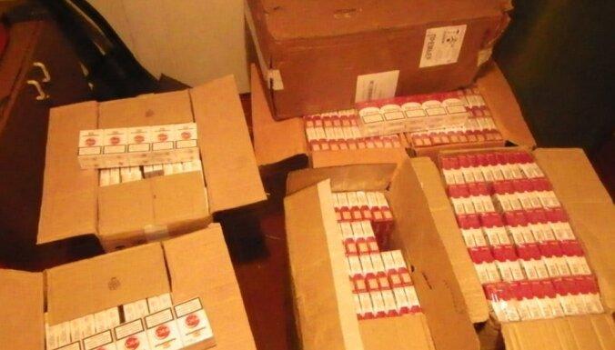 Kravas vilcienos no Baltkrievijas atrod 260 000 kontrabandas cigarešu
