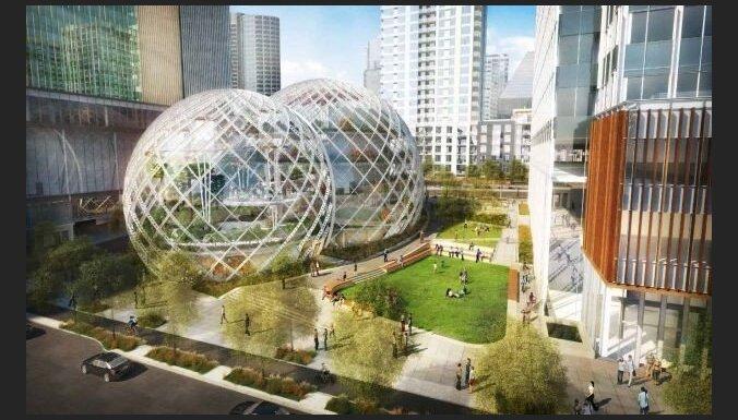'Amazon' supermodernajā Sietlas birojā izbūvēs arī milzīgu bezpajumtnieku patversmi