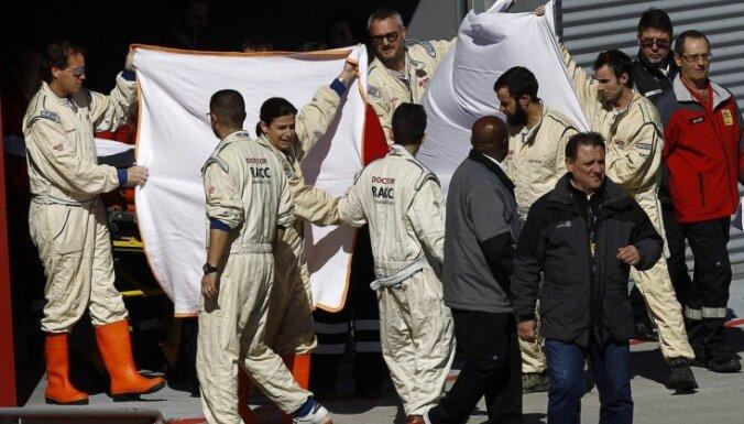'McLaren' atklāj dažas Barselonas testu avārijas nianses