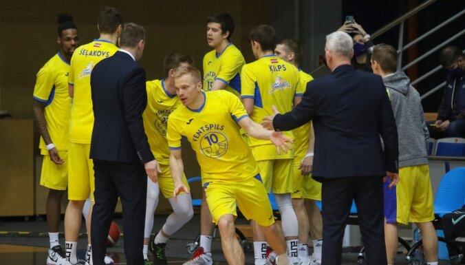 'Ventspils' basketbolisti spraigā cīņā uzvar 'Liepāju'