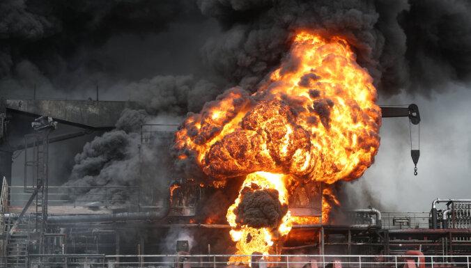 В Южной Корее на танкере с россиянами на борту произошел взрыв