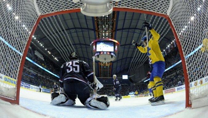 Zviedrija pēdējā priekšsacīkšu spēlē pārliecinoši uzvar ASV