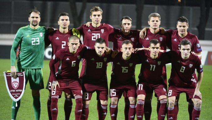 Latvijas futbola izlase FIFA rangā pakāpusies uz 137. vietu