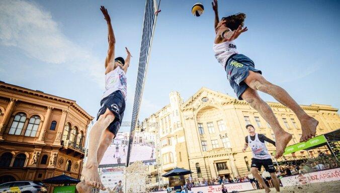 Rīgas centrā atkal sacentīsies Latvijas labākie pludmales volejbolisti