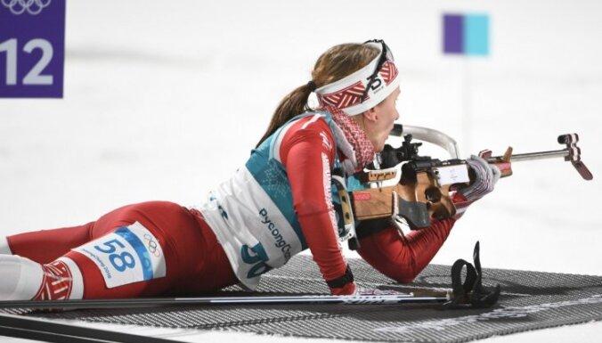 В первой гонке сезона латвийские биатлонисты заняли 12-е место