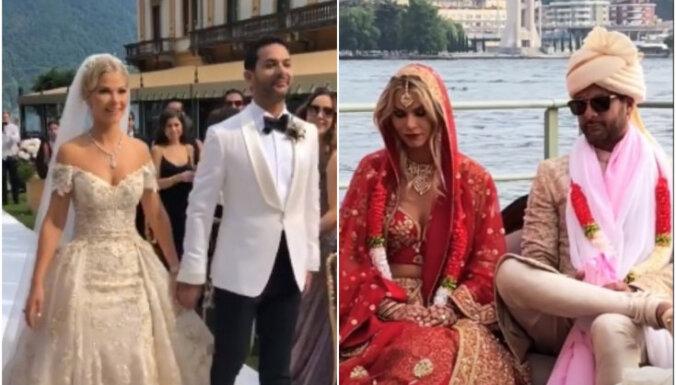 Kubasova ar mīļoto Radžu mijusi gredzenus arī indiešu kāzu tradīcijās