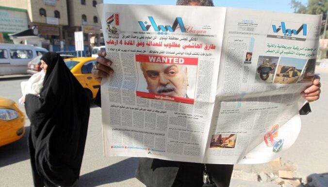 Aizbēgušais Irākas viceprezidents noraida sev aizmuguriski piespriesto nāvessodu
