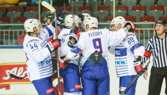 Сборная Латвии уступила Франции еще раз на своем льду
