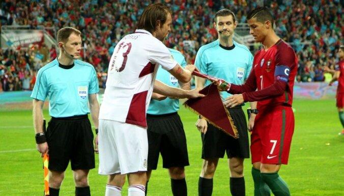 Latvijas futbolisti Rīgā uzņem Ronaldu un Eiropas čempioni Portugāli
