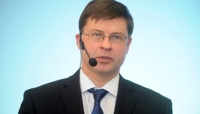 Страуюма: Домбровскису предложат пост вице-президента ЕК