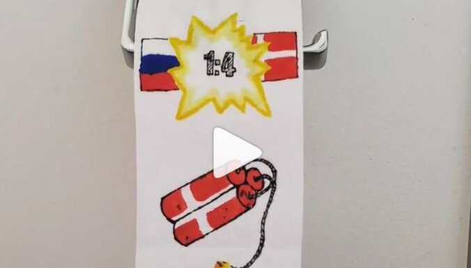 Россия и датский динамит: художник изобразил ЕВРО на туалетной бумаге