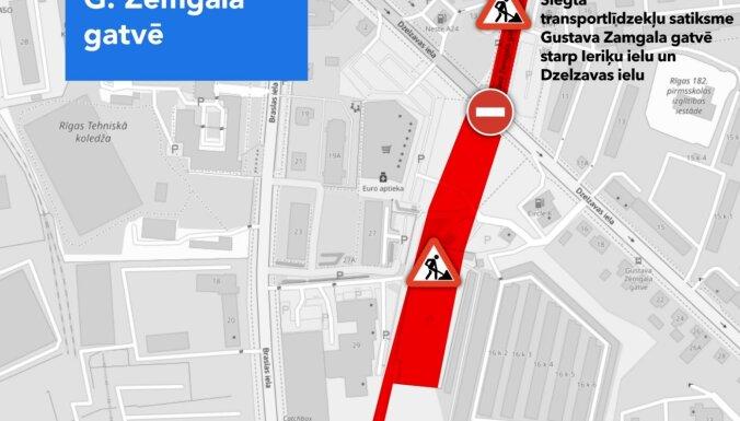 Cтроительство Восточной магистрали: в Пурвциемсе закроют участки на двух улицах и перенесут остановки